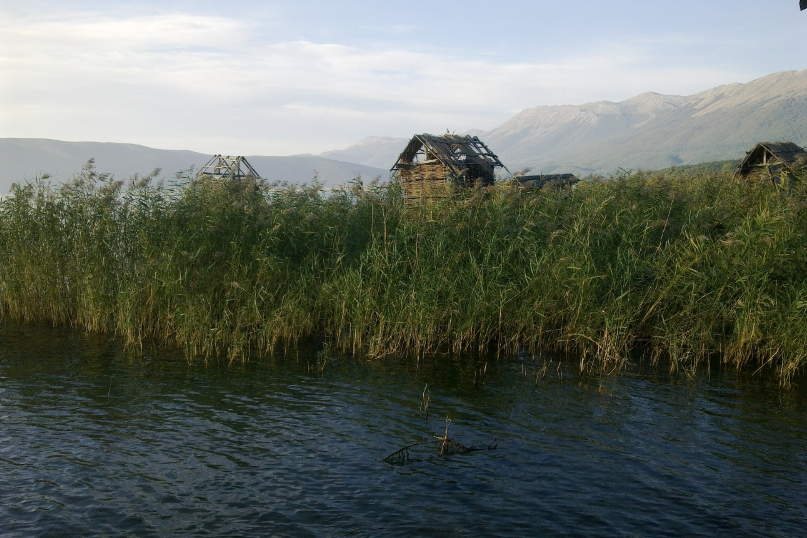 Prespa lake Noord Macedonië
