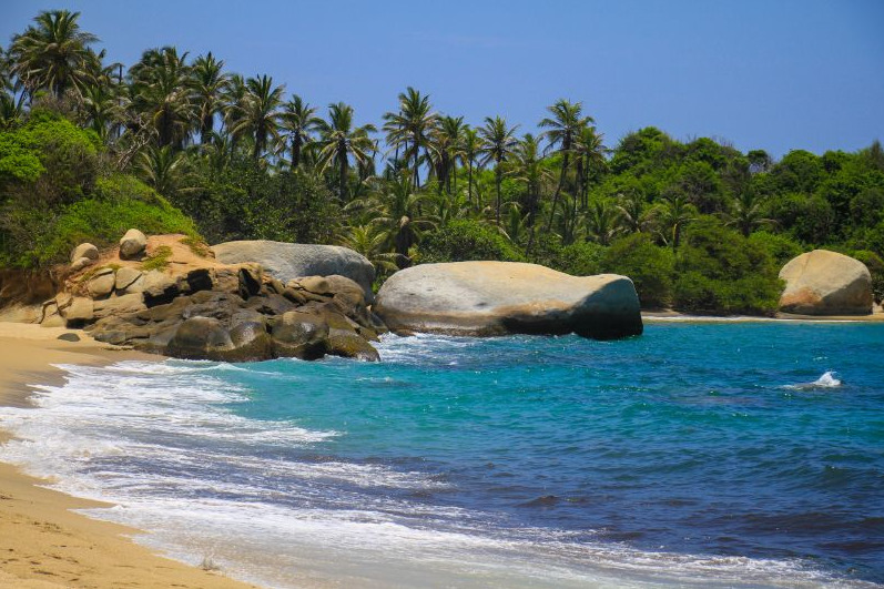 Tropisch strand colombia