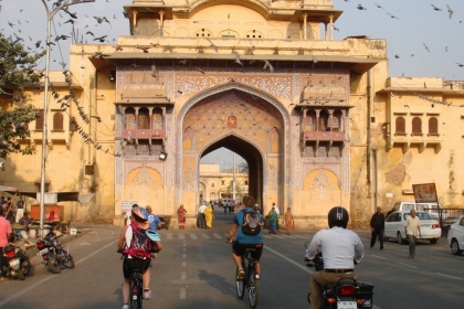 Rondreis India excursies Jaipur fietsen